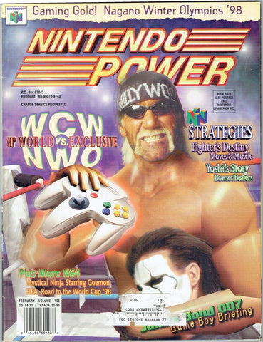 Issue: Feb 1997 / Vol 105 (Nintendo Power Magazine) Pre-Owned: Complete - Bagged & Boarded