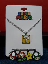 Nintendo Super Mario: Multi Charm Necklace Set (Bioworld) (NEW)