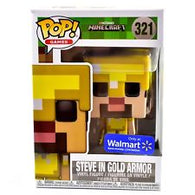 Funko Pop: Minecraft - Steve In Gold Armor #312 (NEW)