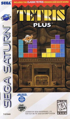 Tetris Plus (Sega Saturn) Pre-Owned: Game, Manual, and Case