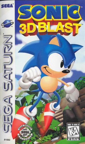 Sonic 3D Blast (Sega Saturn) Pre-Owned: Game, Manual, and Case