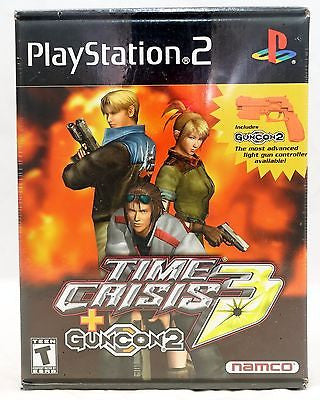 Time Crisis 3 (Playstation 2) Pre-Owned: Game, Manual, Case, GunCon 2, Cable, and Box