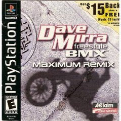 Dave Mirra Freestyle BMX Maximum Remix (Playstation 1) Pre-Owned: Game, Manual, and Case
