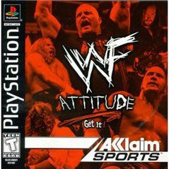 WWF Attitude (Playstation 1) Pre-Owned: Game, Manual, and Case