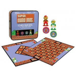 Super Mario Bros. Checkers & Tic-Tac-Toe (Board and Card Games) NEW