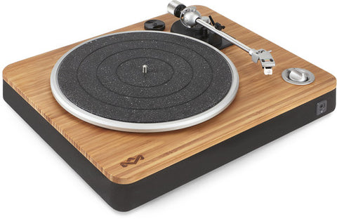 House of Marley EMJT000SB Stir It Up Belt Drive Turntable (Built-In Preamp, Wood, Tan, Belt Drive, Usb Conversion)