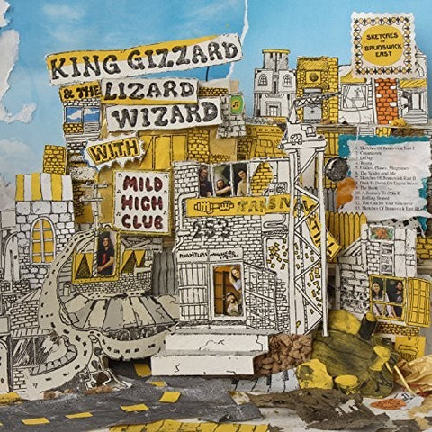 King Gizzard and the Lizard Wizard - Sketches of Brunswick East (yellow w/ blue splatter)