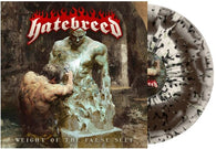Hatebreed - Weight of the False Self (Bone Brown Swirl-Black Mint Green Splatter)