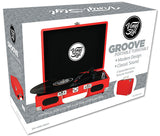 Vinyl Styl™ Groove Portable 3 Speed Turntable (Red)