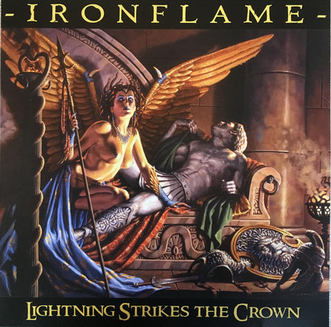 Ironflame - Lightning Strikes The Crown (European pressing, orange vinyl, limited to 300)