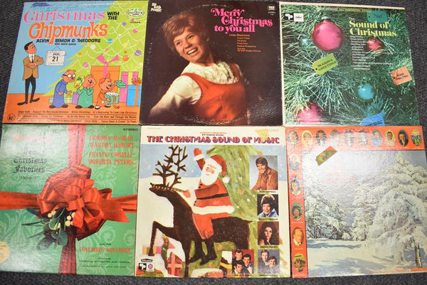 Mystery Vintage Christmas Records box (Free Shipping)