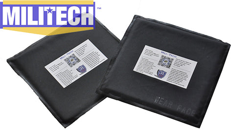 MILITECH 2PC SET 6X6 Inches Ballistic Bullet Proof Panel Inserts NIJ Level IIIA 3A