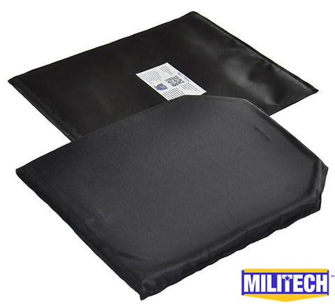 MILITECH 2PC 10'' x 12'' Ballistic Panel Bullet Proof Plate Inserts Body Armor Soft Armour NIJ Level IIIA 3A