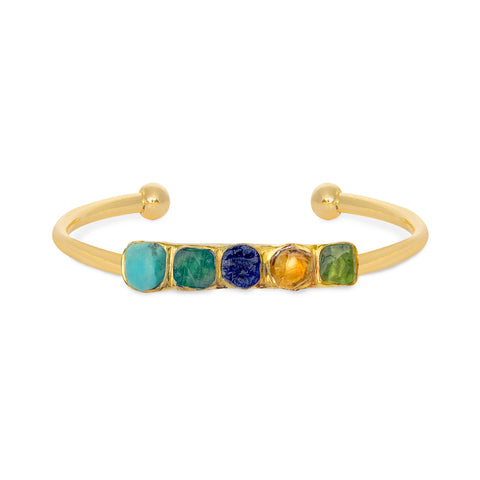 Personalised Cuff (5 Birthstones)