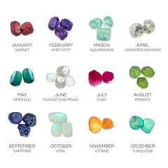Personalised Cuff (6 Birthstones)