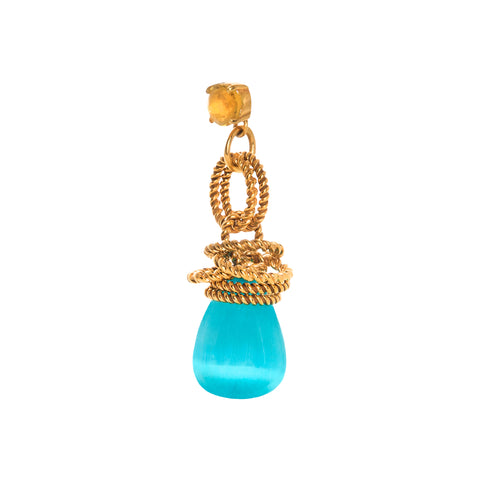 THE CLARISSA (Citrine & Blue)