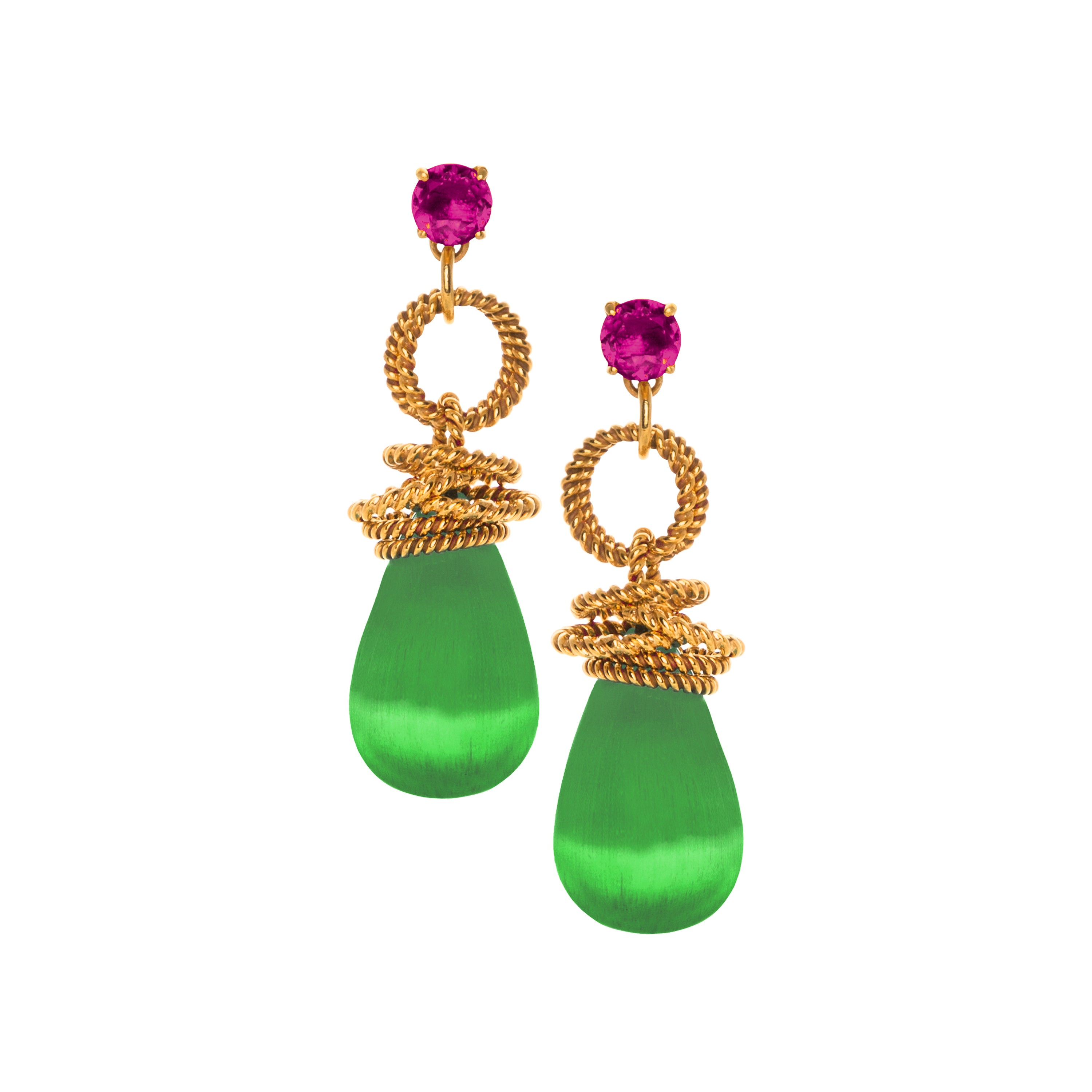 THE CLARISSA (Hot Pink & Green)