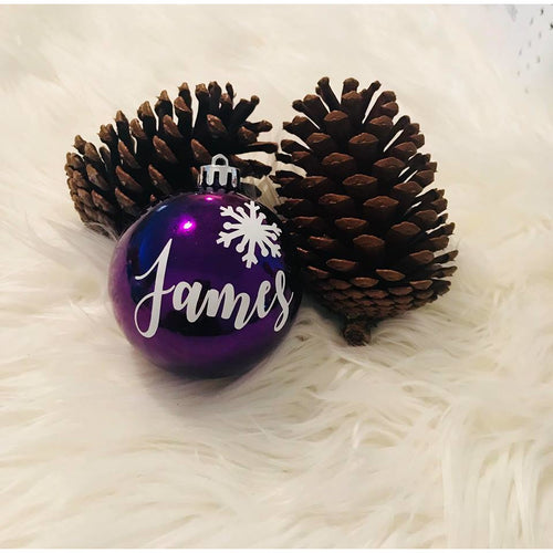 Comet Personalised Christmas Bauble