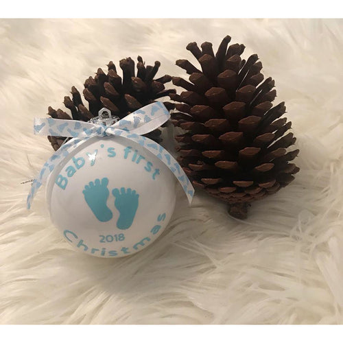 Baby Boy's First Christmas Bauble