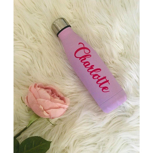 Personalised Double Wall Insulated Bottle - Pink