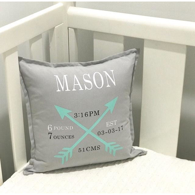 Birth Announcement Cushion