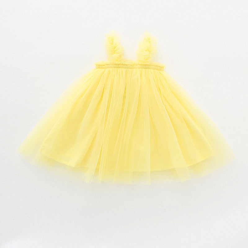 Chelsea Tulle Dress -  Yellow