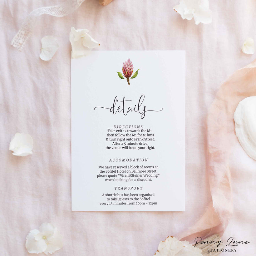 Wedding Details Cards