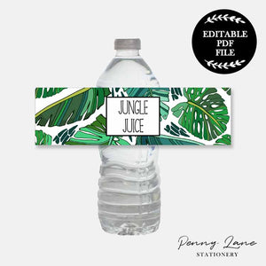 Printable Drink Water Juice Bottle Labels