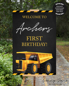Childrens printable welcome party signs