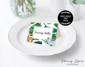 printable party food tents