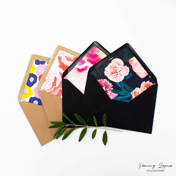 DIY Envelope Liners With Free Printable Template Penny Lane