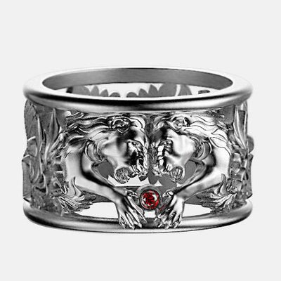 Art-Caribe.com Bague Alliance Lion Argent By Art Caribe