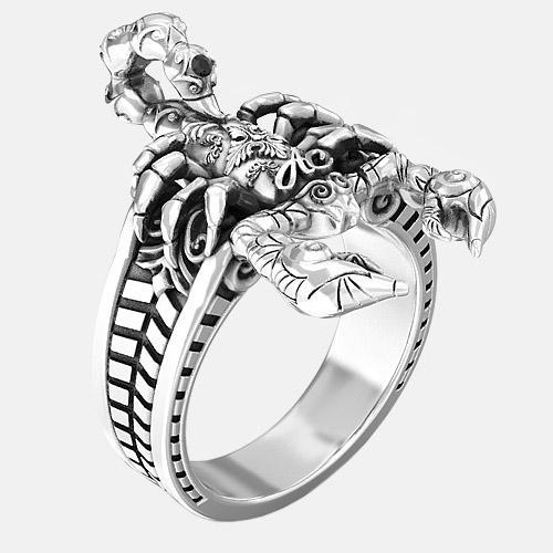 Bague Scorpion Argent By Art Caribe