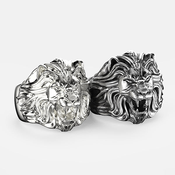 Bague  lion argent By Art Caribe