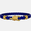 bracelet scorpion or cuir bleu