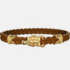 bracelet scorpion or cuir marron