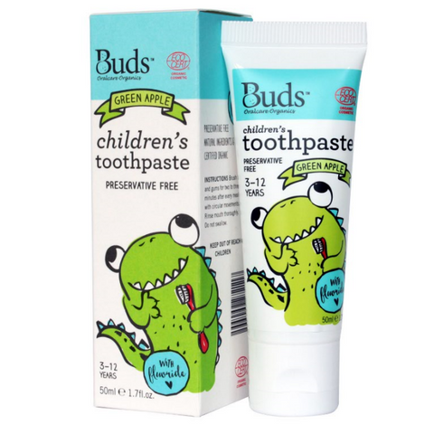 Buds Baby Fluoride Toothpaste (3-12) - Green Apple
