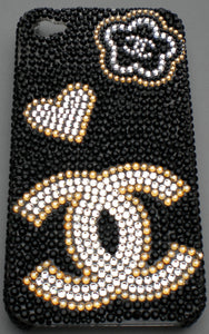 Swarovski Crystal Bling iPhone Case - Chanel Design - Diamond Rhinestone BLING Back Case handmade using 100% Swarovski Crystals