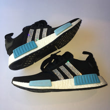 NEW Bling Adidas NMD with Swarovski Crystals * Women's Originals NMD_R1 Runners Casual Shoes * Black & Blue