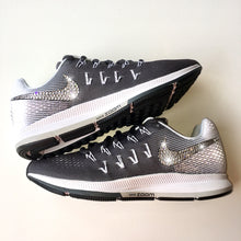 Bling Nike Air Zoom Pegasus 33 Shoes with Swarovski Crystals * Dark Grey * Bedazzled w/ 100% Authentic Swarovski Crystal Rhinestones