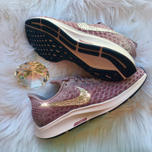 NEW Bling Nike Air Zoom Pegasus 35 shoes with Swarovski Crystals * Rose