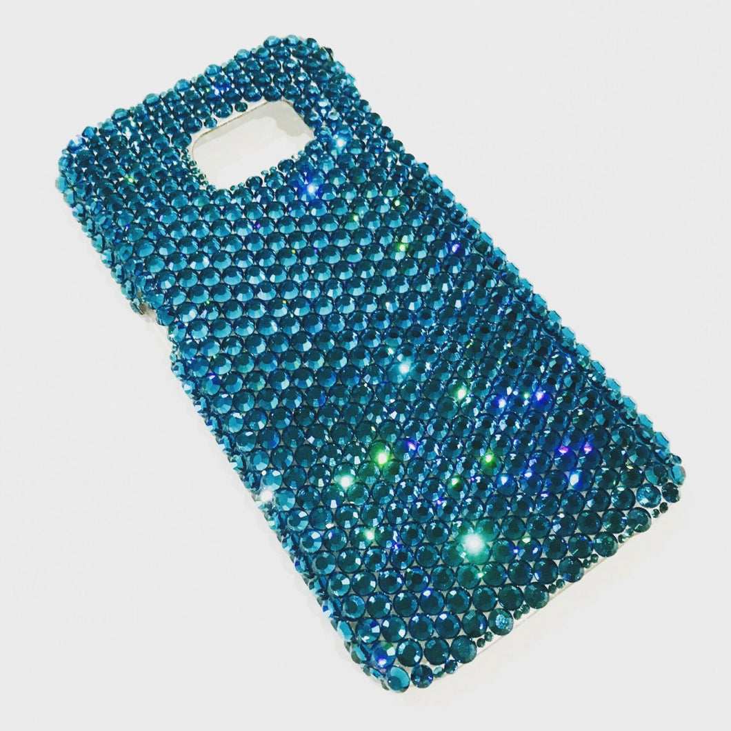 For Galaxy S4 - Zircon - Turquoise - Rhinestone BLING Back Case handmade with 100% Crystals from Swarovski