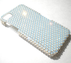 "For iPhone 7 Plus (5.5"") White Opal Crystals from SWAROVSKI Diamond Rhinestone BLING Handmade Back Case"