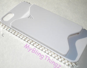 For iPhone SE or 5 5S - Credit Card / Money Holder - Bling Back Protector Case Cover made with Clear Crystals from Swarovski