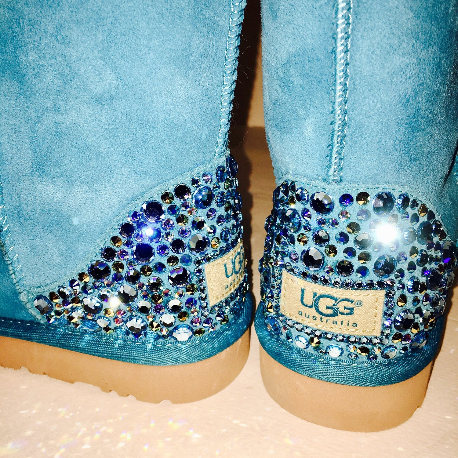 d1a219624d3 Bling Sheepskin Uggs with Swarovski Crystals * Women's Classic Short ...
