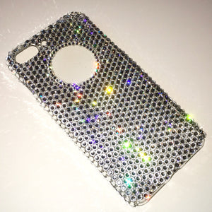 "For iPhone 7 Plus  (5.5"") - Logo Feature - Luxury Clear Crystals from Swarovski Diamond Rhinestone BLING Handmade Back Case"