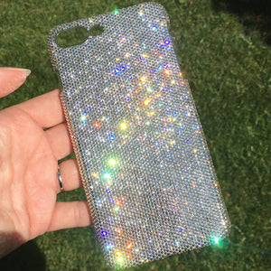 "For iPhone 7 Plus (5.5"") Exquisite Teenie Tiny 5ss Clear Crystal Diamond Rhinestone BLING Back Case handmade using 100% Swarovski Crystals"