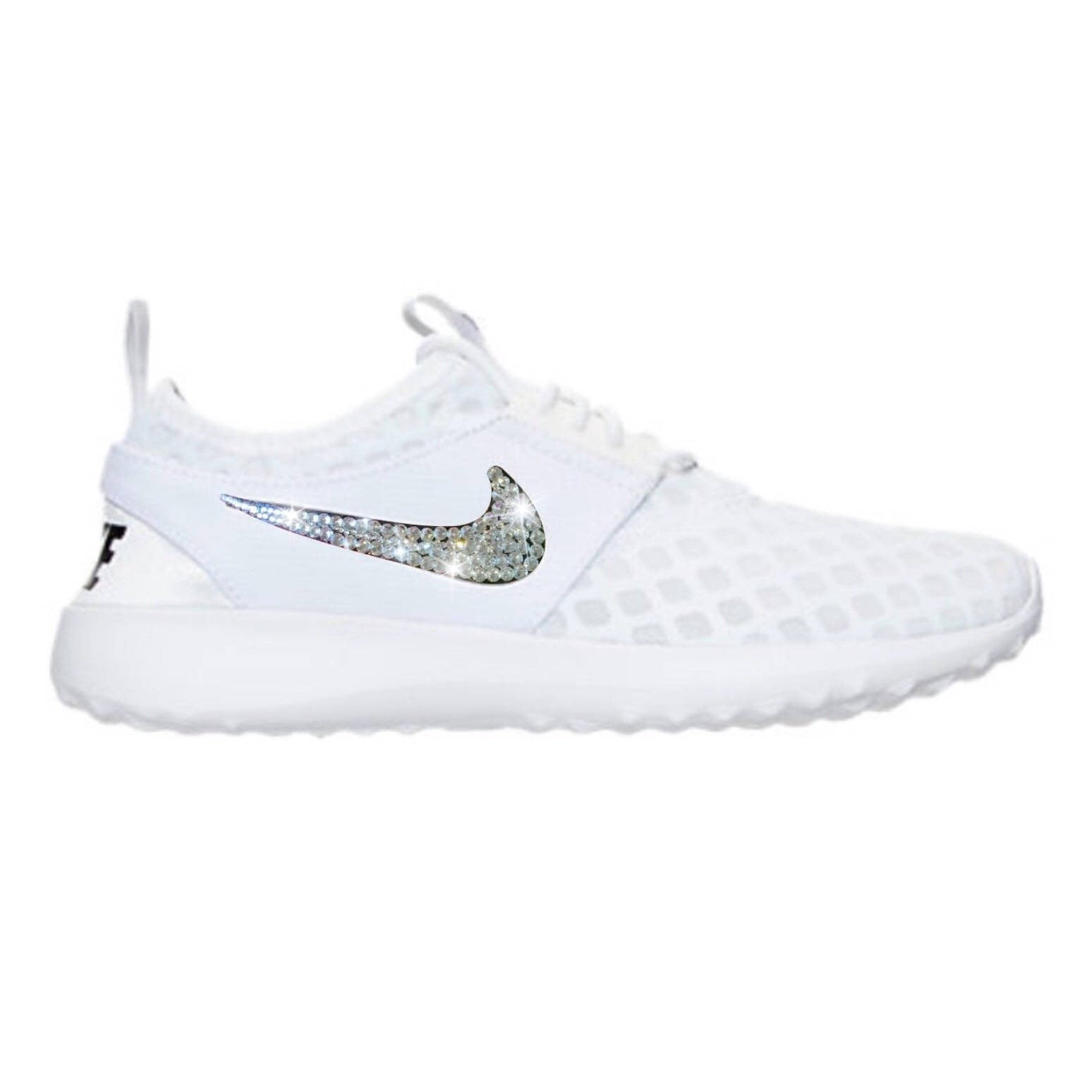 bd9c4e9bf84df Bling Nike Juvenate Shoes with Swarovski Crystals * White & Black *  Bedazzled w/100% Authentic Swarovski Crystal Rhinestones