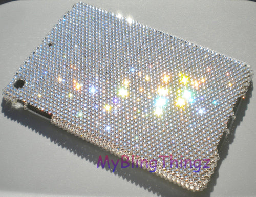 For Apple iPad 2 3 4 - 16ss Clear Crystal Diamond Rhinestone BLING Case handmade using 100% Swarovski Crystals
