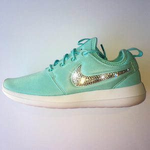 Bling Nike Roshe Two Women's Shoes - Tiffany Blue - Bedazzled with Real Swarovski Crystals